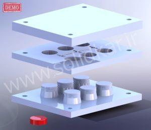 قالب تزریق پلاستیک با solidworks