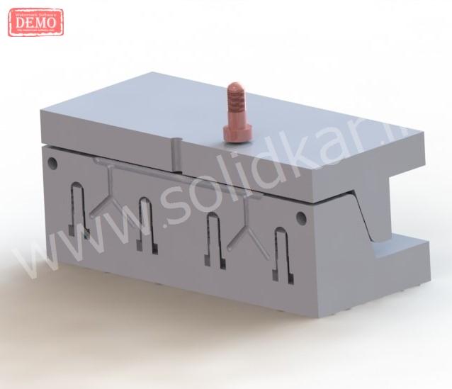 طراحی قالب پلاستیک solidworks سالیدورک